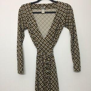 Diane Von Furstenberg Classic Printed Wrap Dress